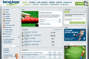 Bet at Home Sportwetten Webseite