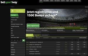 Betway Sportwetten Webseite