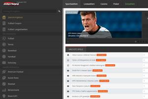 Intertops Sportwetten Webseite