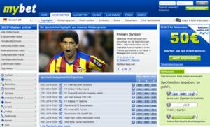 Mybet Sportwetten Webseite