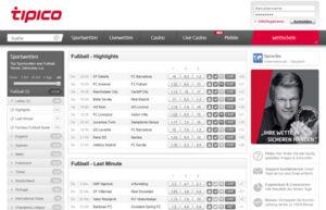 Tipico.de Sportwetten Webseite