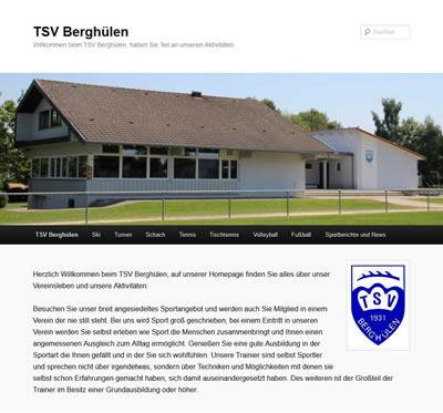 TSV Berghülen Webseite