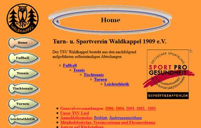 TSV Waldkappel Webseite