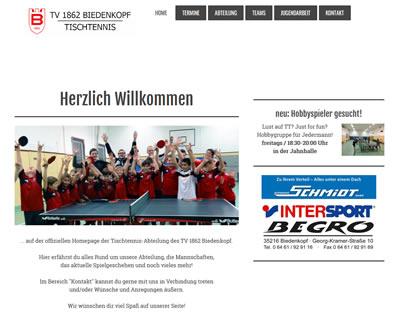 TV 1862 Biedenkopf Webseite